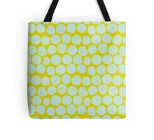 cork polka chartreuse mint Tote Bag