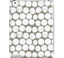 cork polka truffle white iPad Case/Skin