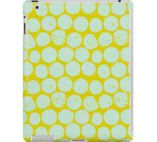 cork polka chartreuse mint iPad Case/Skin
