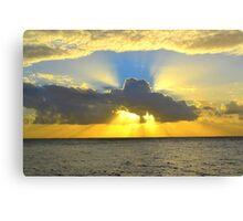 Stradbroke Sunset Canvas Print