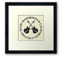 Bakersfield California Country Music (Black) Framed Print