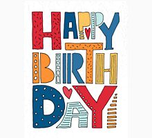 Happy Birthday Lettering Unisex T-Shirt