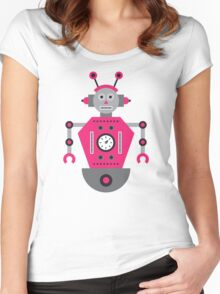 a humanoid 4 Women's Fitted Scoop T-Shirt