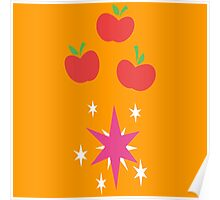 My little Pony - Applejack + Twilight Sparkle Cutie Mark V2 Poster