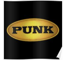 Punk Gold Black Oval Poster