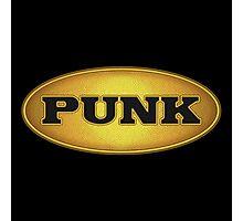 Punk Gold Black Oval Photographic Print