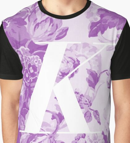 'K' Letter, Vintage Literary Print Graphic T-Shirt