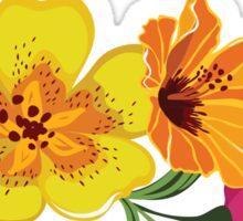 Summer beautiful tropical flower Sticker
