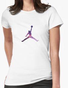 Galaxy Jumpman Womens Fitted T-Shirt