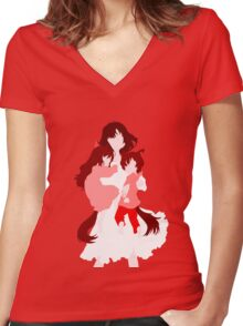Wolf Children (Wall art and shirts) Women's Fitted V-Neck T-Shirt