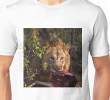 Lion with Leg of Dentist Unisex T-Shirt
