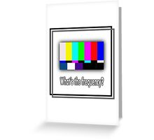 Dean's Funny TV Test Pattern Greeting Card