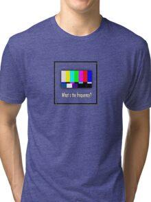 Dean's Funny TV Test Pattern Tri-blend T-Shirt