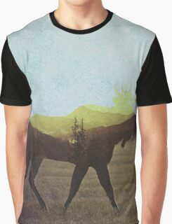 Artsy Moose Graphic T-Shirt