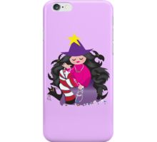 the beading witch with black cat and beads iPhone Case/Skin