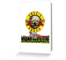 GUNS N ROSE in Coachell valley music n arts festival 2016 Greeting Card