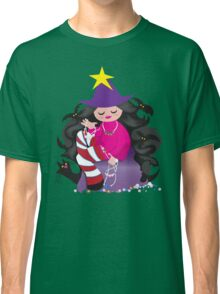 the beading witch with black cat and beads Classic T-Shirt