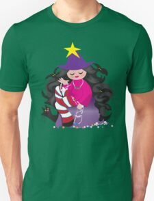 the beading witch with black cat and beads T-Shirt