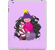 the beading witch with black cat and beads iPad Case/Skin