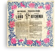Official programme of the visit of Lord Kitchener to Sheffield, 1901 Metal Print