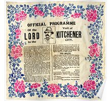 Official programme of the visit of Lord Kitchener to Sheffield, 1901 Poster
