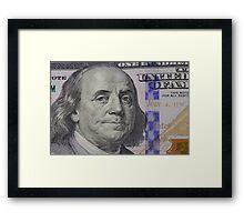 Franklin portrait on banknote Framed Print