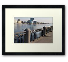 Embankment cast-iron fence Framed Print