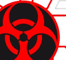 circuitry electrically symbol toxic virus bacteria zombie apocalypse biohazard sick electrician pandemic infected Sticker