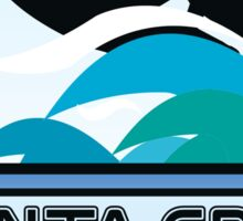 Surfing Santa Cruz California Surf Surfboard Waves Sticker