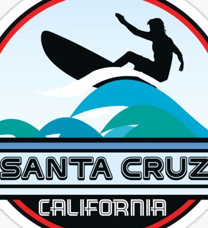 Surfing Santa Cruz California Surf Surfboard Waves Sticker