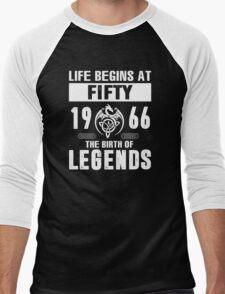 LIFE BEGINS AT 50 Men's Baseball ¾ T-Shirt