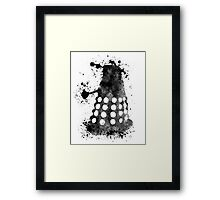 Dalek Doctor Who Black & White Watercolour Framed Print