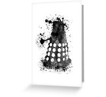 Dalek Doctor Who Black & White Watercolour Greeting Card