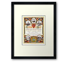 Sheffield Church Day School Association certificate, 1899 Framed Print