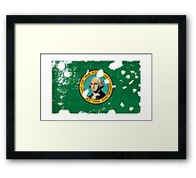 Washington Splatter Framed Print