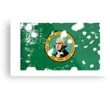 Washington Splatter Metal Print