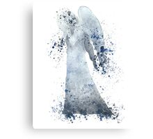 Weeping Angel Doctor Who Watercolour Painting Canvas Print