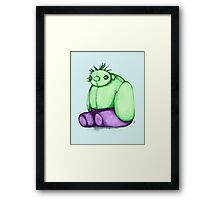 Plushie Smash Framed Print