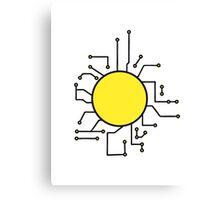 circuitry electrically circular area umrandung frame text write electrician microchip Canvas Print