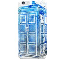 Tardis Colour Doctor Who Watercolour Watercolor Painting iPhone Case/Skin