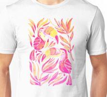 Tropical Toucans – Pink & Melon Ombré Unisex T-Shirt