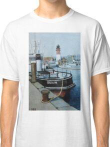 Nordsee Leuchtturm Büsum, Hafen Classic T-Shirt
