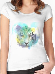 Abstract Tiger Women's Fitted Scoop T-Shirt