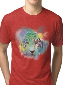 Abstract Tiger Tri-blend T-Shirt