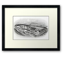 Joseph Rodgers and Sons Ltd, Cutlery manufacturers, Sheaf Island works, Sheffield, 1900 Framed Print