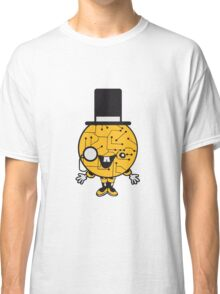 robot sir mr gentlemen cylindrical hat glasses monocle man manikin sweet cute funny comic cartoon cyborg Classic T-Shirt