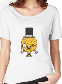robot sir mr gentlemen cylindrical hat glasses monocle man manikin sweet cute funny comic cartoon cyborg Women's Relaxed Fit T-Shirt