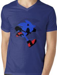 Sonic Silhouette Mens V-Neck T-Shirt