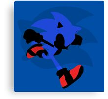 Sonic Silhouette Canvas Print