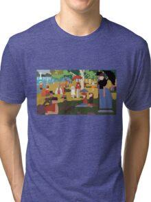 Pixel Sunday Afternoon on La Grande Jatte Tri-blend T-Shirt